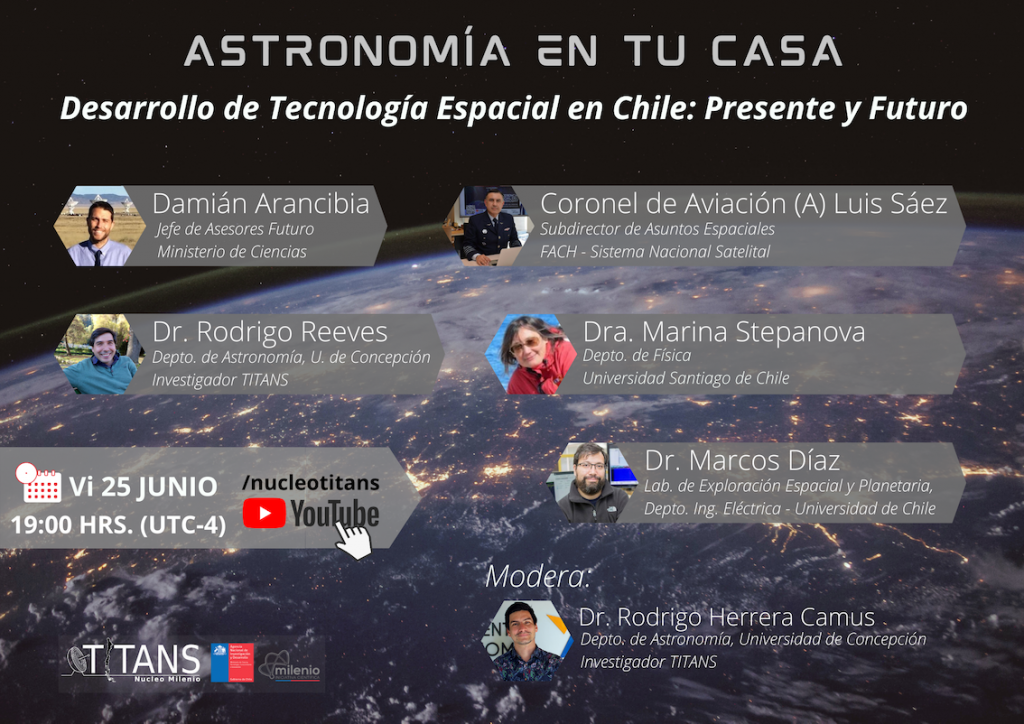 """Vuelve """"Astronomía en tu casa"""" con lo último sobre carrera espacial chilena"""