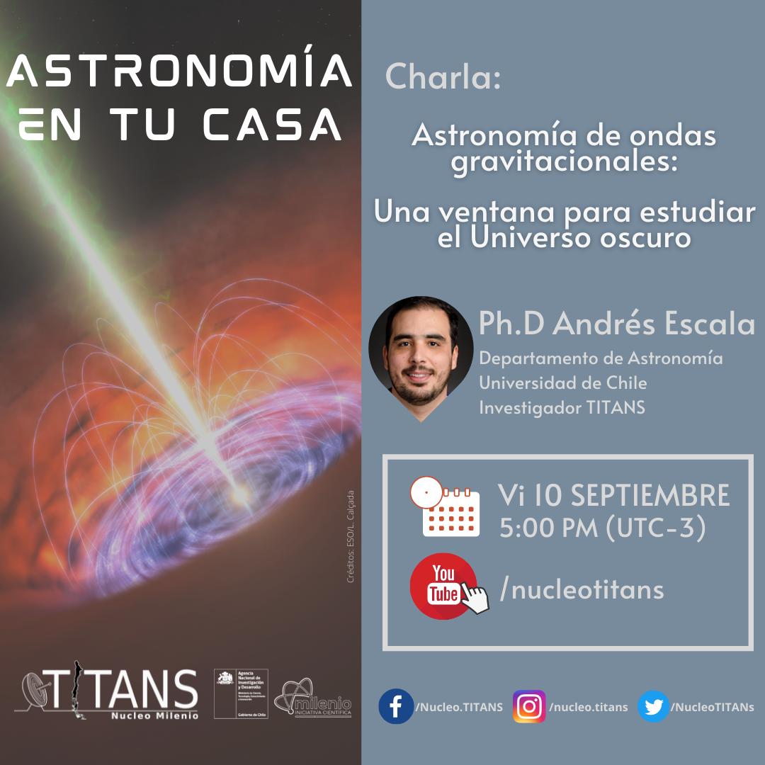 Investigador del Núcleo TITANS expondrá sobre las misteriosas ondas gravitacionales