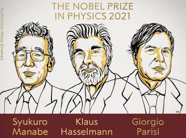 Premio Nobel de Física 2021 para Syukuro Manabe, Klaus Hasselmann y Giorgio Parisi